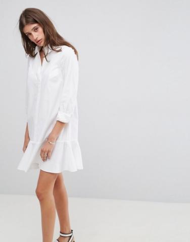 ASOS - Robe chemise avec ourlet à basque