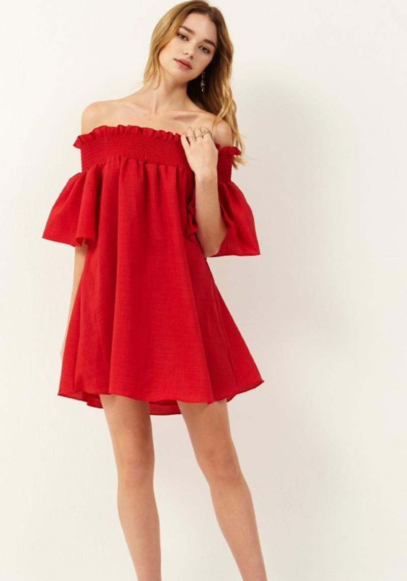 Donna Off-the-Shoulder Dress storets
