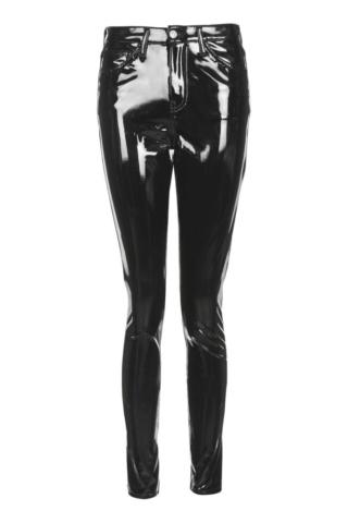 moto black vinyl jamie jeans